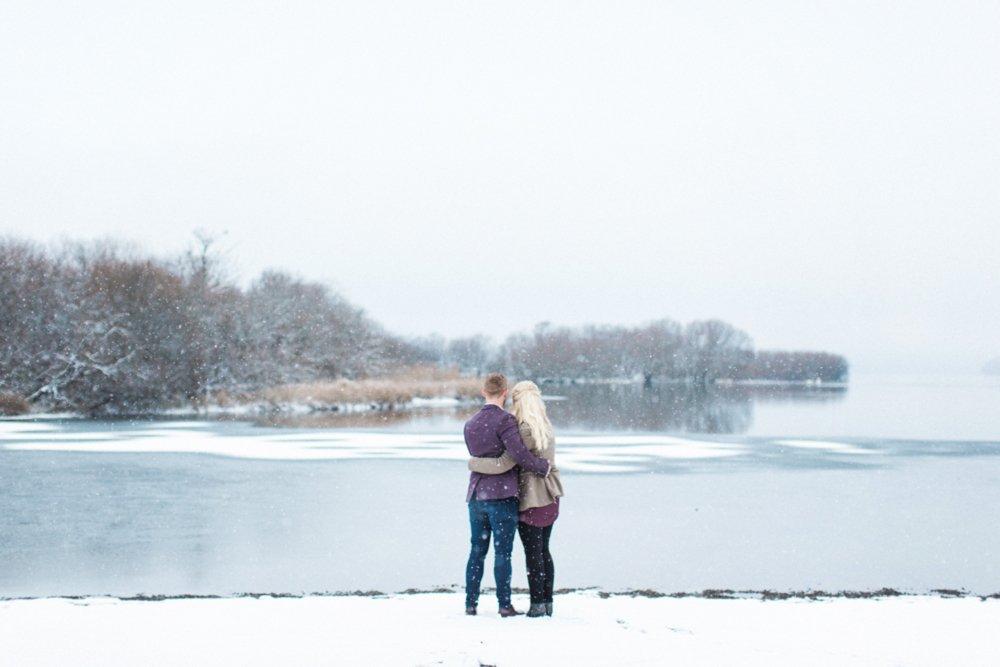 Winter Pre Wedding Shoot at Lodore Falls | Lake District Fine Art Wedding Photographer