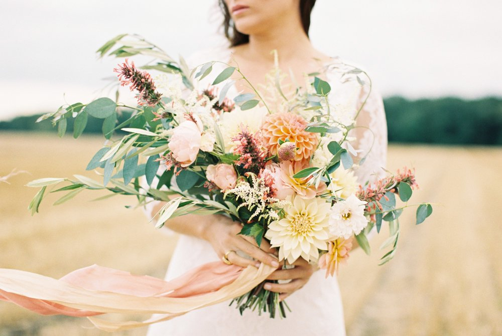 Tuscany meets Yorkshire Bridal Editorial | As Seen on Wedding Sparrow