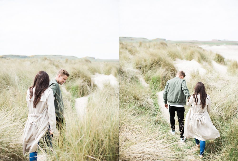 Coastal Pre Wedding Shoot at Bamburgh | North East Fine Art Wedding Photographer