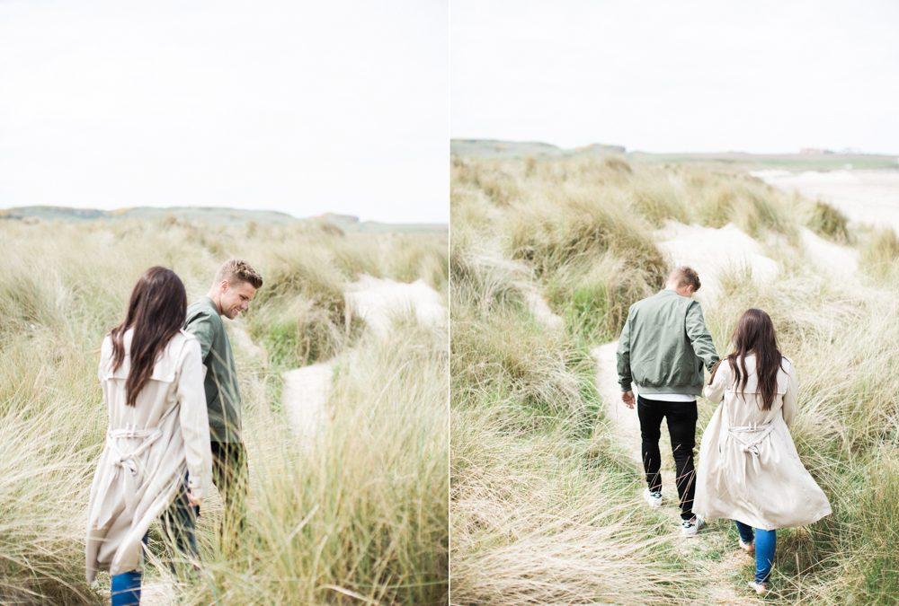Coastal Pre Wedding Shoot at Bamburgh | North East Fine Art Wedding Photographer
