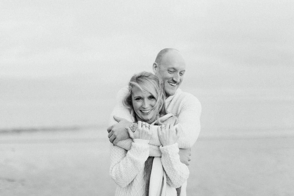engagement pre wedding shoot Alnmouth Beach